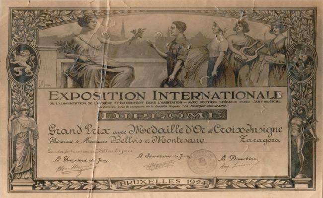 Diploma Bruselas 1924