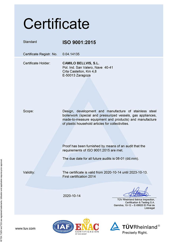 certificado EN