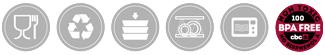 Iconos Menaje Plástico Policarbonato CBC Bellvis
