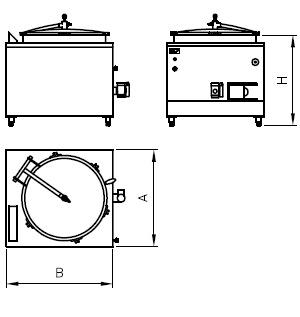 Medidas Marmita Modular Acero Inox CBC Bellvis