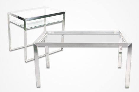 CBC Bellvis furniture tables in Stainless Steel
