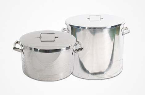 STOCK POT AND STOCK SAUCEPAN