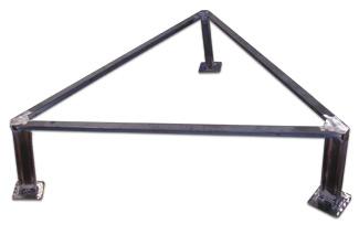 CBC Bellvis trébede triangular paellera en hierro